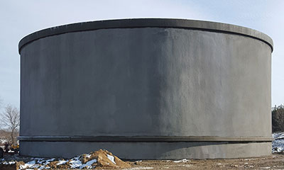 construction complete on 1.5 MG AWWA D110 Concrete Tank in Madison, WI