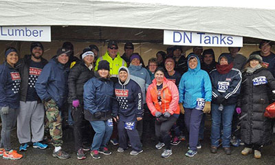 DN Tanks employees Run for the Troops charity event
