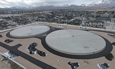 4 MG prestressed concrete water tank in UT
