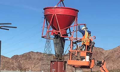 pouring columns for the 3.0 MG concrete water reservoir in Henderson, NV