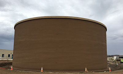 prestressed concrete water storage tank
