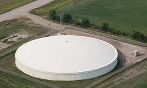 5.0 MG water storage tank in the City of Williston, ND