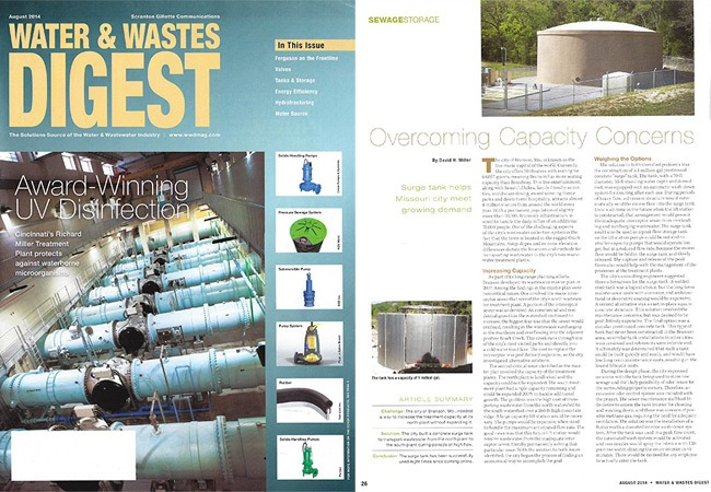 Water & Wastes Digest - August Issue - Overcoming Capacity Concerns