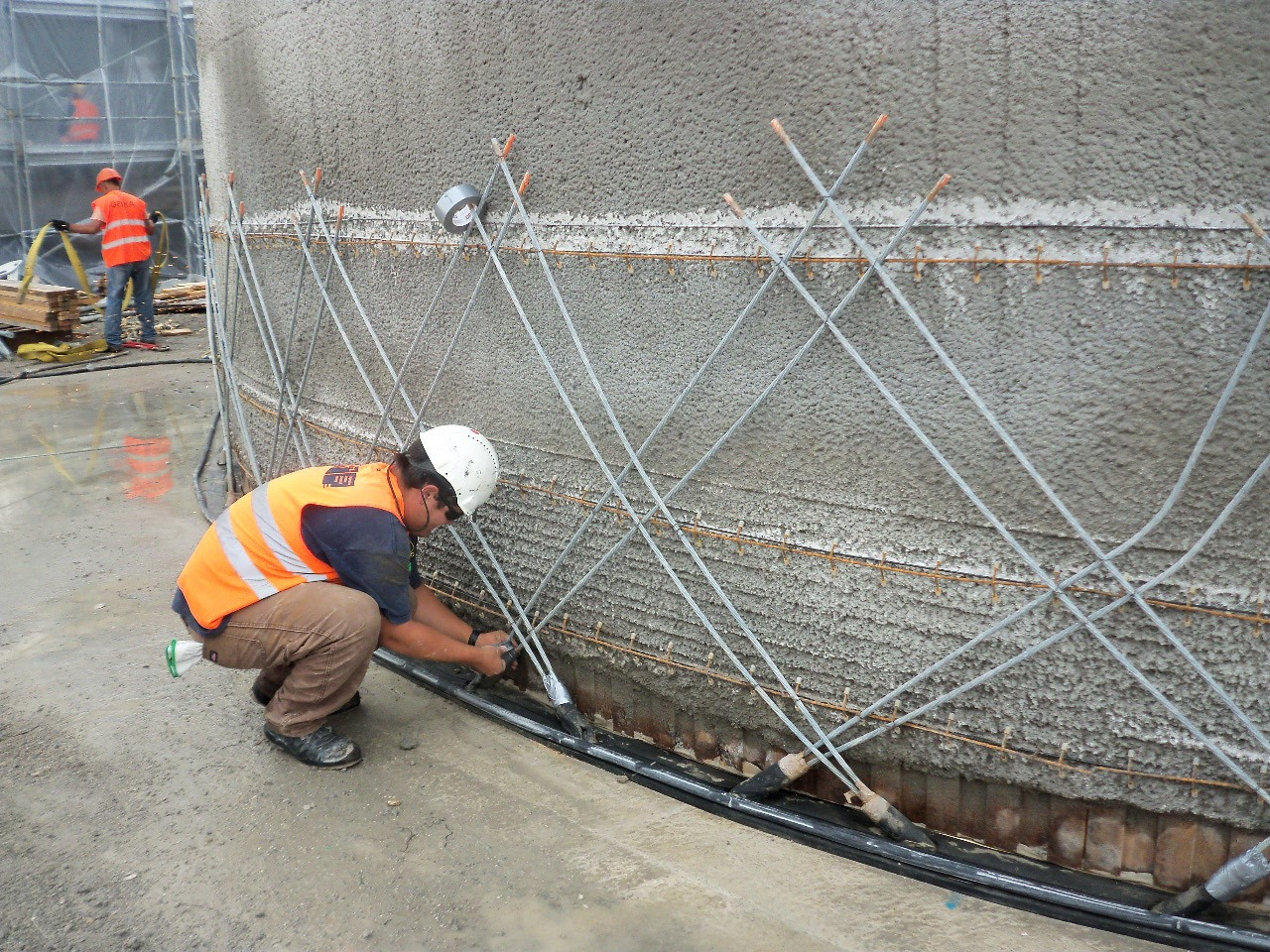 stratified chilled water storage tank built in Italy at a government facility