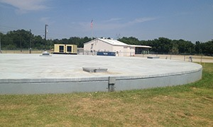 1.0 MG clearwell tank at the Lewisville Water Treatment Plant