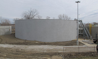 1.85 open top aeration tank Marshalltown, IA