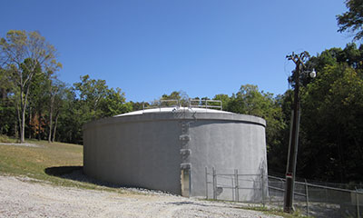 750,000 gallon Possum Run equalization tank