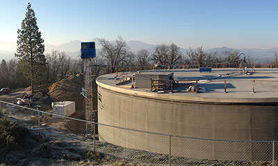Grants Pass, OR prestressed concrete water reservoir