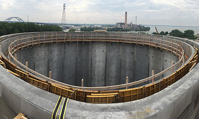prestressed concrete digesters in Green Bay, WI