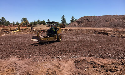 site preparation for the 500,000 gallon prestressed concrete tank in Payson, AZ