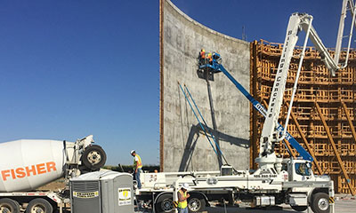 wall construction for the 4.0 MG prestressed concrete water reservoir in Billings Heights, MT
