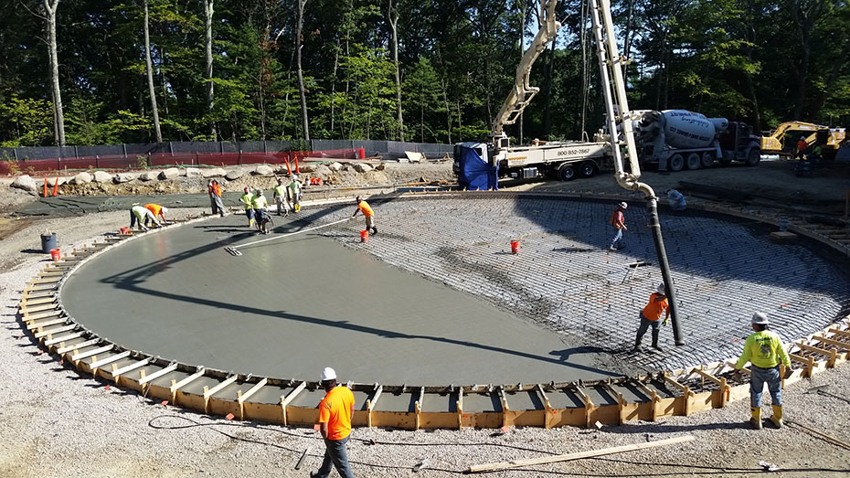 Concrete Floor Placement For The 1.75 MG Water Storage Tank In Framingham,  MA