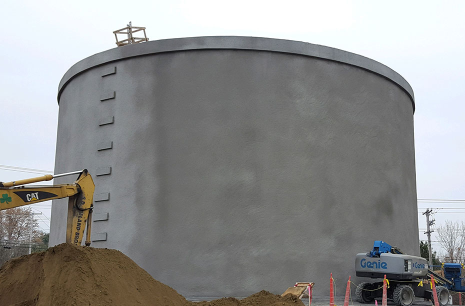 Shotcrete Application On The 1.0 MG Water Storage Tank In South Burlington,  VT